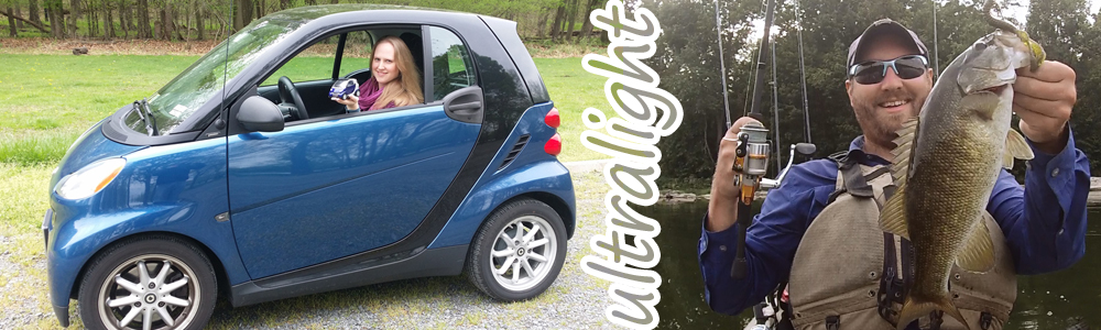 Rachel's Small Smart Car and Chris' Small Mouth Bass