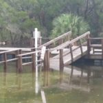 Dock Submerged by Flooded Crystal River