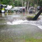 Crystal River Spills into Campground Lake